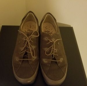 Finn Comfort Brown Suede Oxford Lace-up Sz 6C